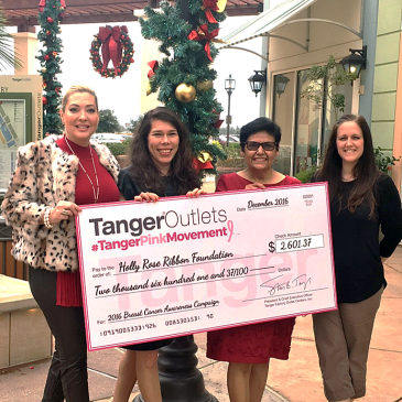 UPDATED: Tanger Outlets pinkSTYLE campaign to benefit the Holly Rose Ribbon Foundation